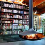 Cheminée à bois foyer ouvert pivotante à 360° FOCUS Emblématique - Atraconfort