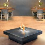 Chauffage à l'éthanol forme de table carré FOCUS - Atraconfort